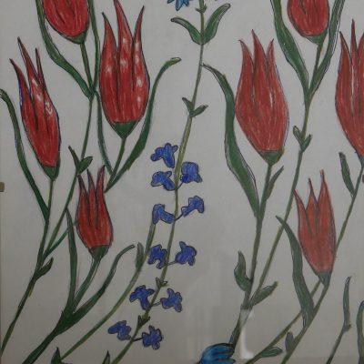 Azulejo Iznik inspirado en la colección Gulbenkian | 28x21