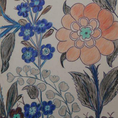 Detalle floral inspirado en la colección Gulbenkian | 21x29 (A4)