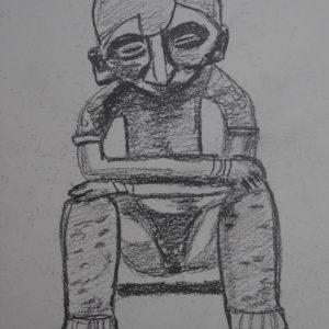 El hombre sedente de Nayarit. 21x15 cm.