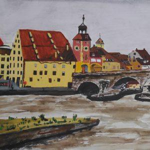 El puente romano de Regensburg | 21x29 (A4)
