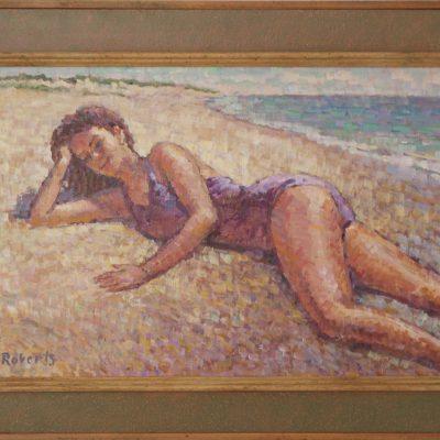 La mujer feliz | Óleo sobre lienzo | 42x25