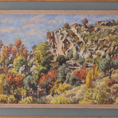 Güéjar Sierra en otoño | Óleo sobre lienzo | 60x45