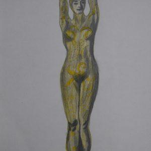 Recreación de la mujer pulpo de Chiparus 1. 29x21 cm.