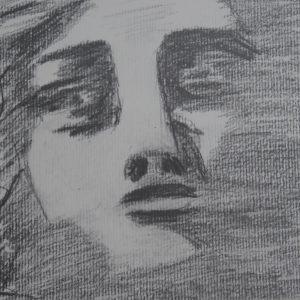 Rostro de figura del Carmen de los Mártires. 15x21 cm.