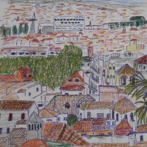Vista de Granada desde el Realejo Alto | 23x23