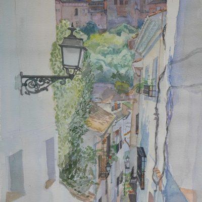 La Torre de Comares desde la Calle Candil | 56x36 | 800€