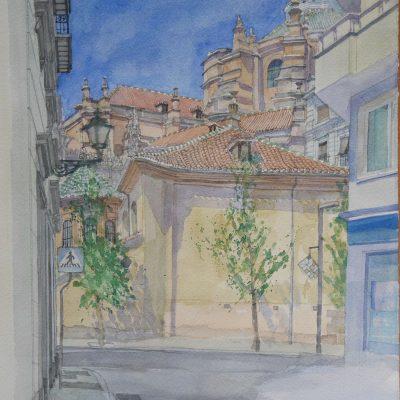 La Catedral vista desde la Gran Vía de Granada | 56x40 | 950€