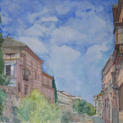 Lateral de la Iglesia de Santa Ana desde la Carrera del Darro | 56x40 | 900€