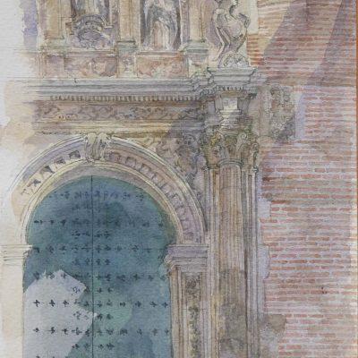 Lateral derecho de la Portada de Santa Ana | 56x20 | 550€