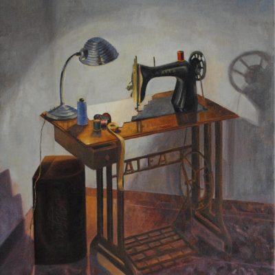 La máquina de coser. Maribel Porcel. 1000 euros. 81x100 cm