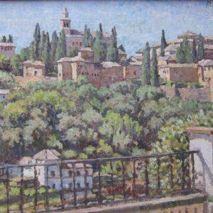 11. Alhambra. Paul Roberts. Óleo. 32x44,5 cm