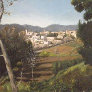 15. Vista de Granada. Sacri Jiménez. Óleo sobre lienzo. 84x65,5 cm. 490 euros