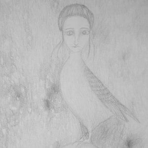 22. Mujer pájaro. Amalia. 40x30 cm. 60 euros