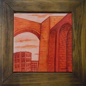 6. Arco de Elvira. Riegas. Azulejo Esmaltado. 27x25 cm. 90 euros