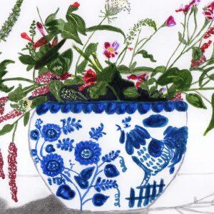 Las flores del jarrón ruso. Lara. 27x29 cm.