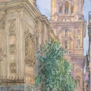 Campanario de la Catedral. Nobuo Ueda. 64x39 cm. 1200 euros