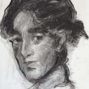 12. Mujer rural. Pepe Molero. 40x30 cm. 150 euros
