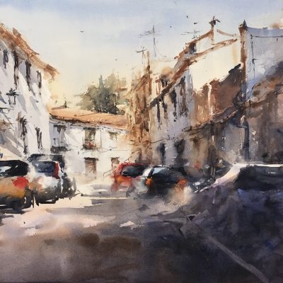 Realejo. Miguel Ángel Lacal. Acuarela. 58,5x79 cm. 500 e
